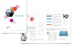 Free Information Technology Brochure Template Download from @StockLayouts
