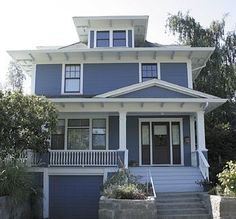 American Foursquare Houses Usually Have These Features Simple Box Shape Two And