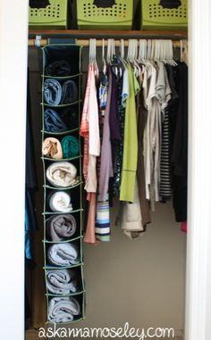 Space saving closet solutions - Ask Anna