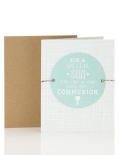 Special Son Communion Card   M&S