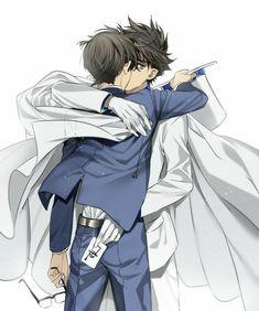 × Encore plus de Yaoi × - Kaito x Shinichi (Detective conan) Yuri, Magic Kaito, Wattpad, Detective Conan Shinichi, Conan Comics, Kaito Kuroba, Kaito Kid, Kudo Shinichi, Memes