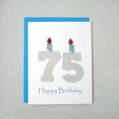75th Birthday Card / Milestone Birthday / by ZeeBestCelebrations