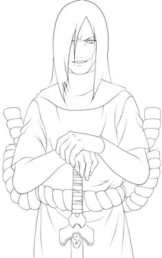 Orochimaru Lineart by xRyuuzakii on DeviantArt Naruto Uzumaki, Anime Naruto, Naruto Sasuke Sakura, Naruto Art, Naruto Sketch Drawing, Naruto Drawings, Anime Drawings Sketches, Anime Sketch, Otaku Anime