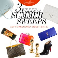 "Shop Hers, Inc. (""Sponsor"") will be conducting the Shop Hers 3 Weeks of Summer Sweeps (the ""Promotion"" or ""Sweepstakes"") beginning 3:00 p.m. Pacific Time (""PT"") 6/30/14 and ending 11:59 p.m. PT 7/20/14."