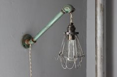 industrial wall light - from lukelampco - he makes the coolest lighting!