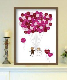 Gästeplakat für Hochzeit // guest poster for the wedding by foryoudesign ist DEIN design via DaWanda.com