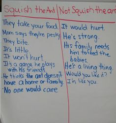 Use with the book Hey, Little Ant. Great for opinion writing with Common Core.