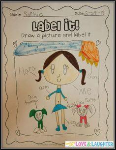 British Columbia Kindergarten Language Arts Work on Writing Activities 1st Grade Writing, Work On Writing, Writing Ideas, Writing Images, Kindergarten Language Arts, Kindergarten Literacy, Kindergarten Writers Workshop, Lucy Calkins Kindergarten, Writing Lessons