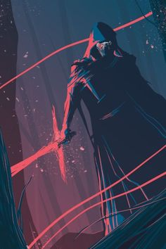 Kylo Ren fanart from Star Wars Episode VII The Force Awakens #kyloren…