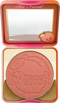 The return of a Too Faced heritage product, Papa Don't Peach Blush, repackaged and infused with peach. Looks flattering on any skin tone. This burst of sweet peachy-bronze adds a fresh youthful radiance to cheeks for a summertime warmth.