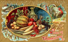 Happy Thanksgiving - vintage card