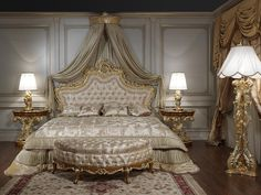 Baroque bed for the roman baroque style of  the seventeenth century luxury classic collection - Vimercati Meda
