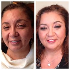 #BTS before and after with Vanessa's mother. #motherofthebride #makeup by Maya Goldenberg #ecobeautyprofessional  www.mayagoldenberg.com