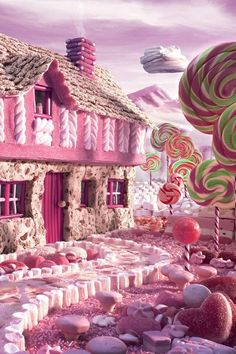 Candyland or what I glimpse for a moment after taking my cough syrup.