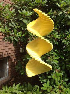Handmade wood wind spinner garden spinner yard spinner helix