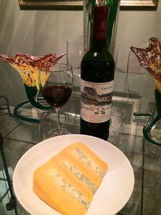 Château Les Grandes Mottes Bordeaux and Huntsman Cheese