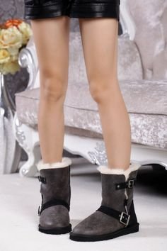 2013 New Ugg Buckle Snow Boots, Short Ugg Snow Boots, Ankle Buckle Snow Boots #ugg #buckle #boots www.loveitsomuch.com