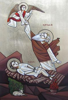 Abraham and Isaac - Coptic icon