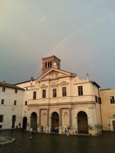 Rainbow on the Tiber island