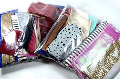 40g Fabric Remnant Bundle, assorted fabric offcuts, fabric scraps, fabric bundle