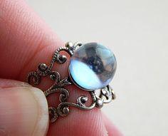 Crystal ball ring  gypsy ring  stevie knicks  by FleetwoodandCo, $19.00