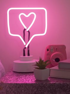 Like Neon Light – American Dream House Pink Neon Lights, Neon Light Signs, Neon Signs, Pink Light, Bedroom Wall Collage, Photo Wall Collage, Neon Bedroom, Bedroom Decor, Neon Lights Bedroom