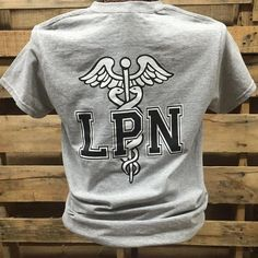 Southern Chics Nurse LPN Licensed Practical Nurse Girlie Bright T Shirt Available in sizes Adult S-3X Picture is of the back of the shirt, Front of theshirt h