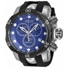 Invicta 16149 Men's Venom Chronograph Blue Dial Black Rubber Strap Dive Watch,