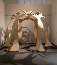 RORSCHACH PAVILION (Plywood, Leather, 360 x 300 x Lawrence Lek, Design Museum commission The Rorschach Pavilion is an inhabitable sculpture that explores the primal experience of organic. Luke Hayes, The Vie, Modular Structure, Organic Form, Design Museum, Pavilion, Sculpture, Projects, Leather