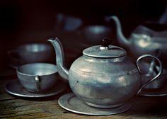 stainless tea set.
