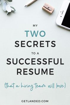 Two secrets to a successful resume to impress the hiring team and get past the ATS | Resume Writing Tips | Best Resume | Resume Advice | Job Application