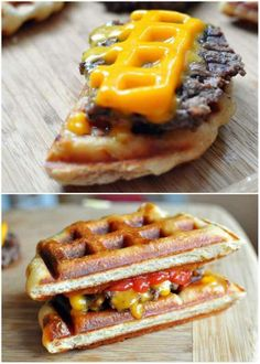 Cheeseburgers | 17 Unexpected Foods You Can Cook In A Waffle Iron.