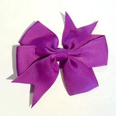 "Purple 3"" grosgrain pinwheel bows. For headband making, barefoot baby sandals, sewing. Fold over elastic, rhinestones, appliqués & more also available."