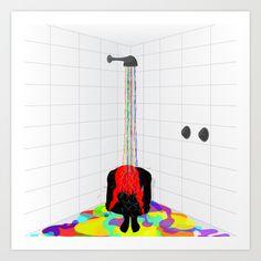 rainbow shower, bath, colors, new life Expresso, Illustration Art, Snoopy, Rainbow, Bath, Shower, Art Prints, Colors, Fun