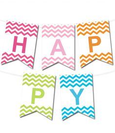 free printable happy birthday banner archives karen cookie jar