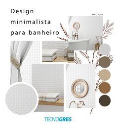 Nada como um espaço leve e relaxante para tomar um bom banho, não é mesmo? Inspire-se nessa combinação do clássico com o minimalista e crie você também, um espaço apaixonante. #revestimentoceramico #revestimento3d #revestimentocomrelevo #monoporosa #ceramica #decoracao #banheiro #banheira #decoracao #inspiracao #reforma #construcao #arquitetura #designdeinterior #tecnogres Design Minimalista, Best Bath, Standing Bath, Nice, Arquitetura