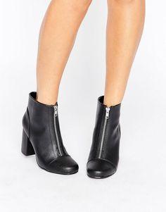 New Look   New Look Front Zip 60's Boot at ASOS