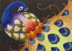 Canvas stitches - Certificate Karin Piggott Canvas Shading is used to blend colours in a design to create a realistic effect. Canvas Stitches uses a range of stitches and threads (including metal threads) to create depth and movement. Both are worked on an open weave canvas, usually 18 point. Sometimes incorrectly referred to as tapestry. The second half of the 16th century that canvaswork in its current form became a part of everyday life.