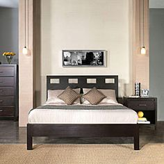 Rectangular Cutout Twin-size Platform Bed | Overstock.com Shopping - Great Deals on Domusindo Beds
