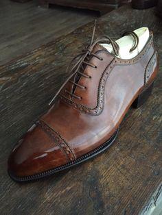 London Chaussures Homme Jamie en Cuir à Lacets élégant Formel Richelieu à chaussures marron Tan