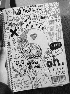 75 Creative Doodle Art Tutorials and Examples – Doodles Doodle Drawings, Cute Drawings, Random Drawings, Awesome Drawings, Pencil Drawings, Tumblr Drawings Easy, Simple Drawings, Notebook Doodles, Notebook Drawing