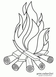 Campfire | Print. Color. Fun! Free printables, coloring pages, crafts ...