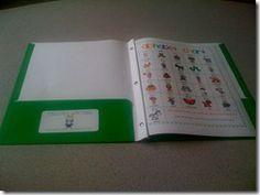 Writing Folder Ideas