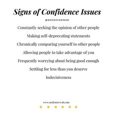 {Self-confidence is an inside job.}⁣ ⁣ Building your confidence starts by determining what gets in the way of your confidence. Mental And Emotional Health, Emotional Healing, Inner Child Healing, Inside Job, Life Advice, Life Tips, Psychology Facts, Emotional Intelligence, Self Confidence