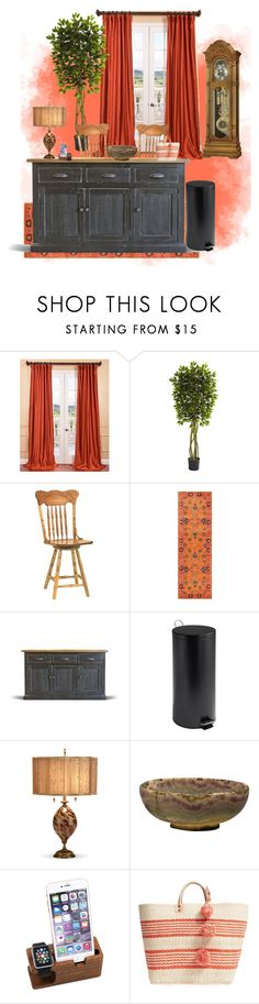 """Coming Home"" by breahn-royal ❤ liked on Polyvore featuring interior, interiors, interior design, home, home decor, interior decorating, Exclusive Fabrics & Furnishings, DutchCrafters, nuLOOM and Honey-Can-Do"