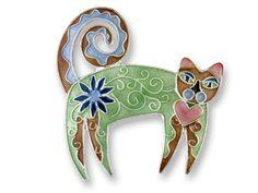 Cat Fancy Gifts - Zarah Jewelry - Enamel on Sterling Silver Cat Earrings