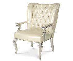 Creamy Pearl Desk Chair   Hollywood Swank   Michael Amini Furniture Designs   amini.com