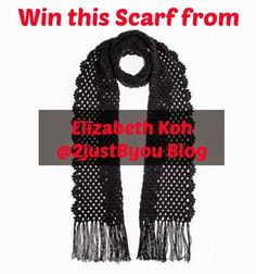 Win a Handmade Crochet Scarf! {Elizabeth Koh GIVEAWAY} Open to US & Canada, ends 10/22/14.  www.2justByou.com #handmade #giveaway