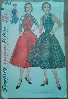 Vintage 1950's Simplicity Pattern 5060 Teens' & Juniors' Jumper or Dress