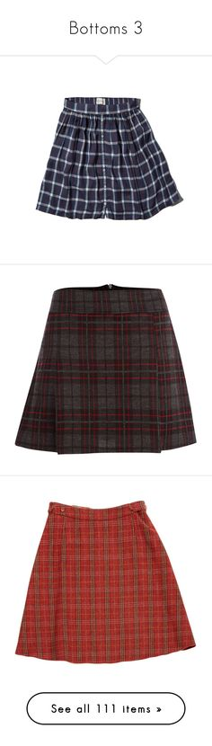 """Bottoms 3"" by lutizzlle ❤ liked on Polyvore featuring skirts, bottoms, blue plaid, tartan skirts, crop skirt, blue flared skirt, slimming skirts, button up skirt, mini skirts and plaid skirts"